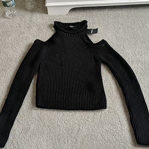 Shoulderless Sweater